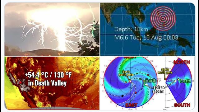 6.9 Earthquake in Philippines, Solar Storm hits Earth August 20th, HEAT & Planet Parade