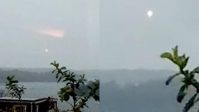 Woman Records Glowing UFO Orb During Rainstorm over Plymouth (UK) - FindingUFO