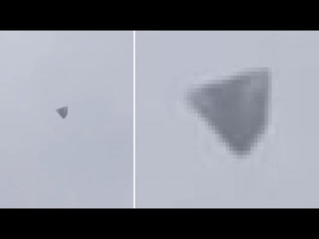 Triangular UFO captured on film in Colombia
