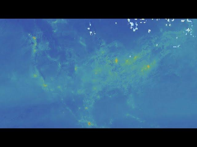 Seen from Space: Significant drop in air pollution over US in March 2020
