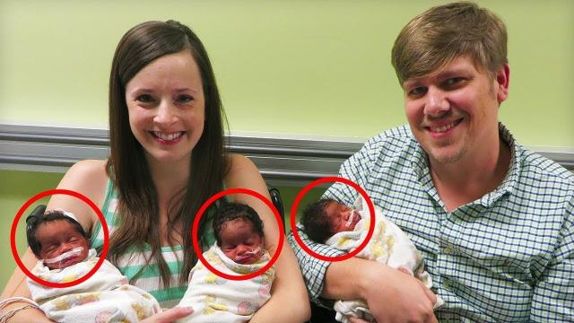 Mom Gives Birth To Triplets, Realizes Their Faces Are Too Familiar To Hide
