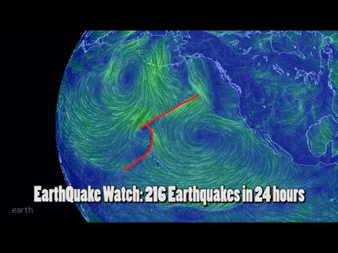EarthQuake Watch: 216 Earthquakes in 24 Hours. 5.7 China latest