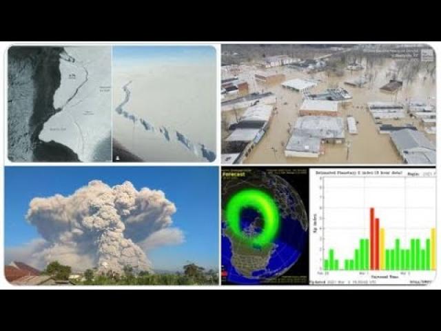 Texas lifts Mask Mandate & opens 100% Geomagnetic Storm! Kentucky Flood! Volcanoes & Rogue Icebergs