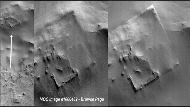 NASA Picture that Reveals Possible 'Archaeological Site' on Mars