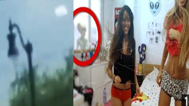 alien stalk girls ufos caught on videos in real life