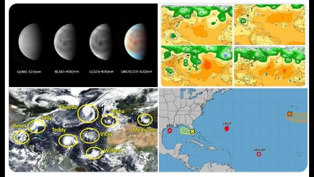 TS Beta TX & LA flood threat! Hurricane Teddy! Florida Swirl! Asteroid! & HURRICANE ON VENUS?!?