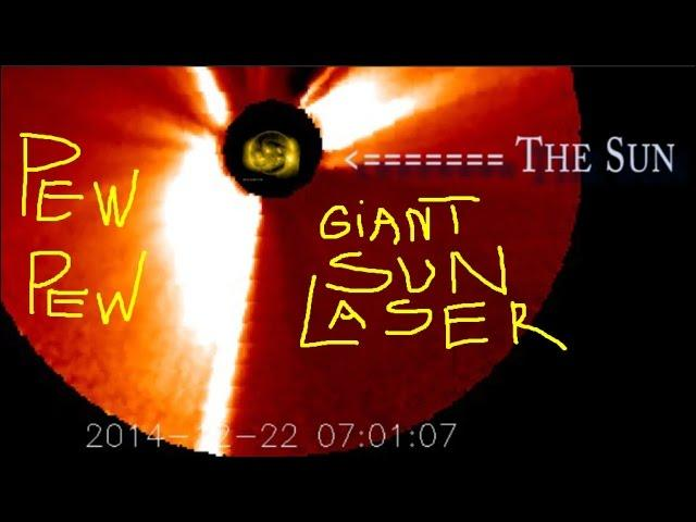 The Sun shoots a GIANT Laser. Pew Pew. For almost a whole day.