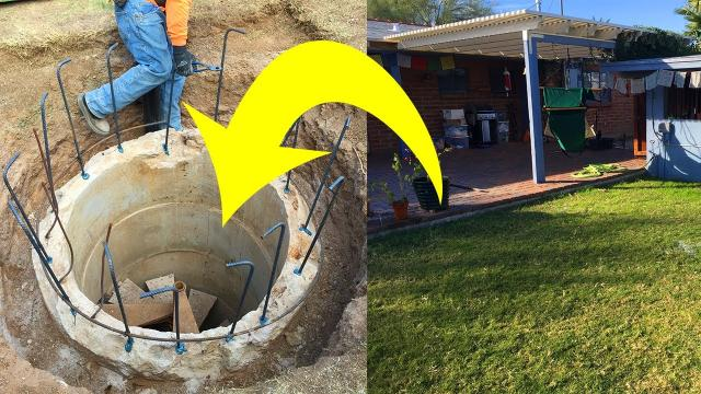 Man Looking At Blueprints Uncovers A Strange Hatch Concealed In His Own Yard