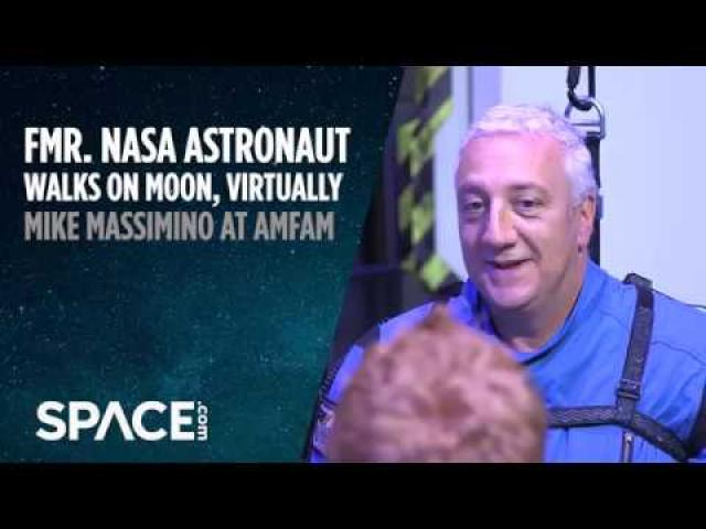 Fmr. NASA Astronaut Walks on Moon, Virtually
