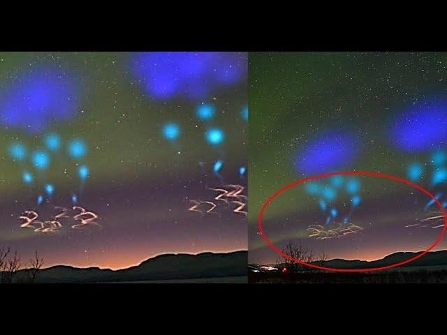 Update: Web Cam records an extraordinary sighting of a fleet of UFOs on Abisko