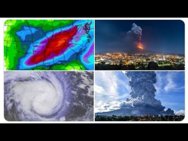Red Alert! Floody Week for Mid-East USA! Iceberg the size of LA breaks off Antarctica! +Volcanoes!