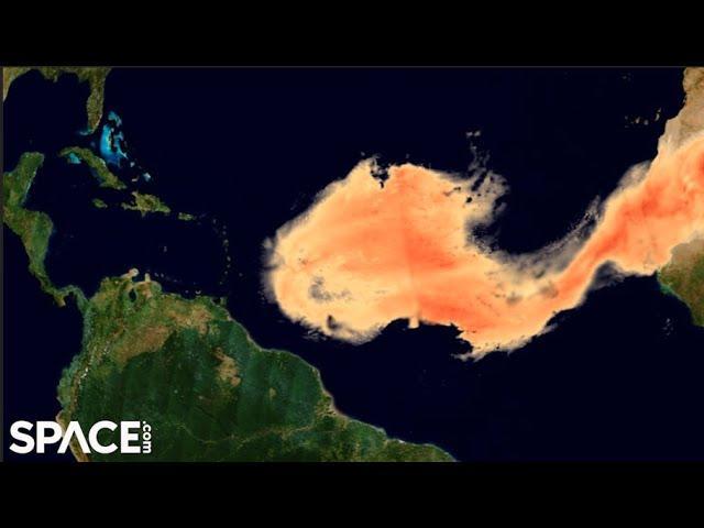 'Godzilla' Saharan dust plume's aerosols tracked from space