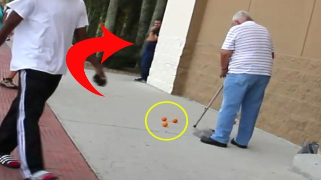 After An Old Man Drops His Groceries And A Woman Helps Him, She Realizes He Tricked Her