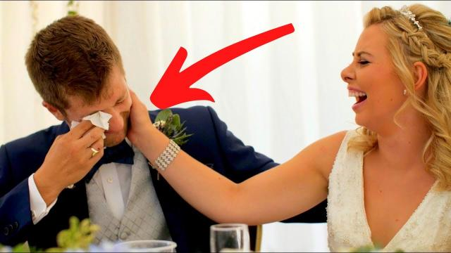 Wife Holds Back Tears After Husband Gives Her Epic Surprise