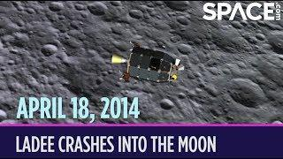 OTD in Space – April 18: LADEE Crashes into the Moon
