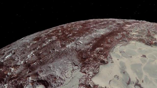 Soar Over Pluto's Mountains with NASA's New Horizons