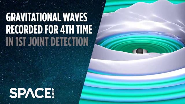 Animation: Black Hole Merger That Created 4th Gravitational Waves Detection