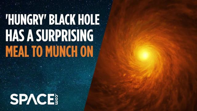 'Hungry' Black Hole Has Surprising Meal to Munch On