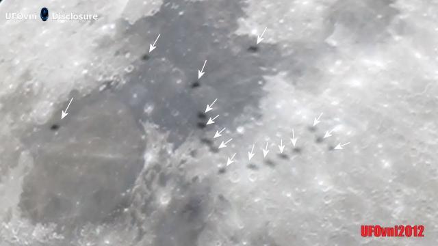 16 UFOs Near Moon Filmed by Telescope, feb 23, 2021