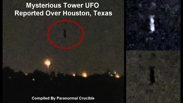 Mysterious Tower UFO Reported  Over Houston, Texas