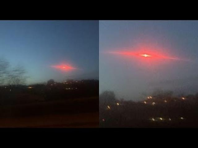 Bright Red UFO Appears Over UK City Bradford On Video