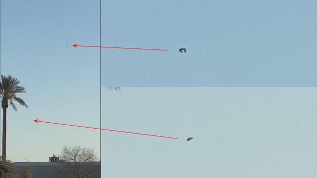 Two Flying UFOs Over Las Vegas, Nevada On March 5, 2021