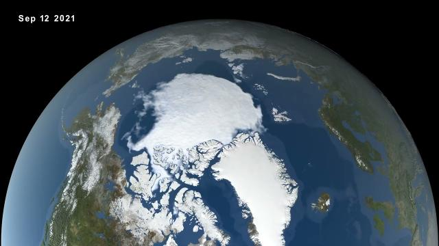 Arctic Summer Sea Ice minimum in 2021 is '12th-lowest on record'