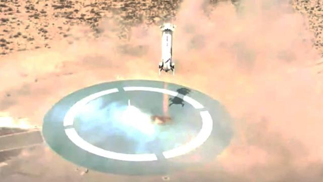 Blue Origin's New Shepard launches after 'astronaut rehearsal,' nails landings!