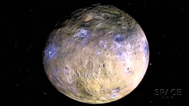 What Are Dwarf Planet Ceres' Bright Spots? Data Animation