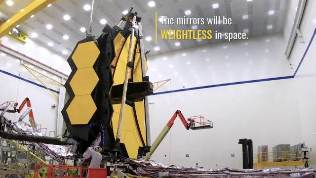 NASA unfolds James Webb Space Telescope mirrors in test
