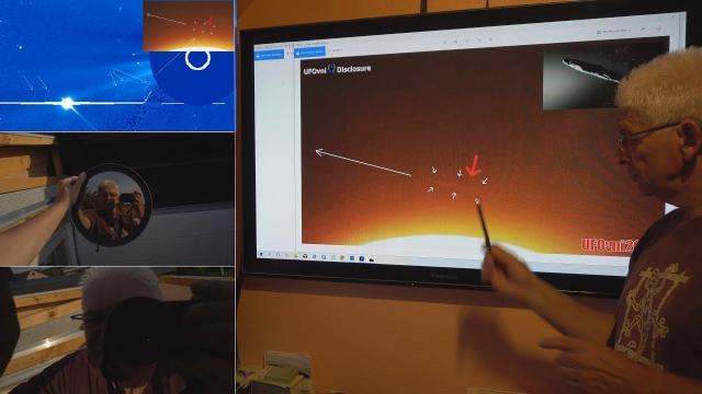 """TELESCOPE SUN: """"Huge Object"""" and """"massive UFO"""" fleet Near the Sun"""