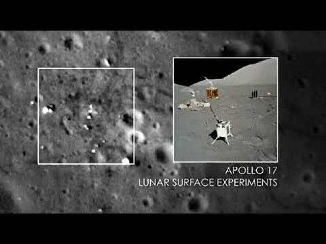 See the Apollo 12, 14, and 17 Landing Sites from Lunar Orbit