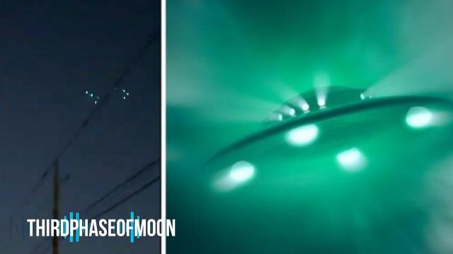 Formation Of Mysterious Green Lights Over New Mexico!
