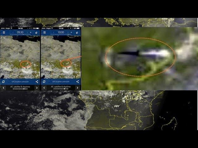 Huge Unidentified Flying Object caught on Sat24 Africa Satellite