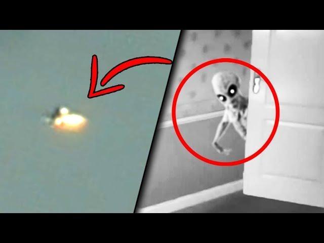 6 Aliens & Strange UFOs Caught On Camera!