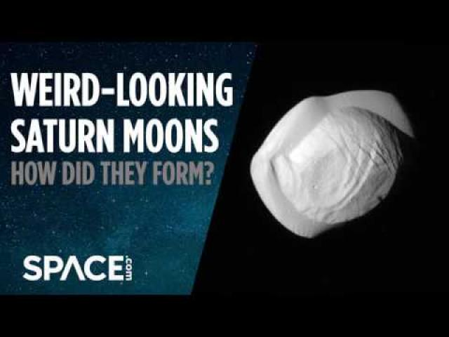 Weird-Looking Saturn Moons - How Did They Form?