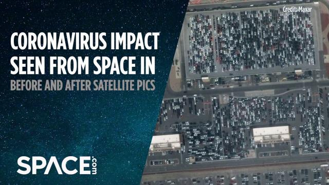 Coronavirus impact seen from space in before and after satellite images