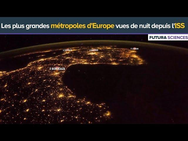 Villes d'Europe vues de l'espace