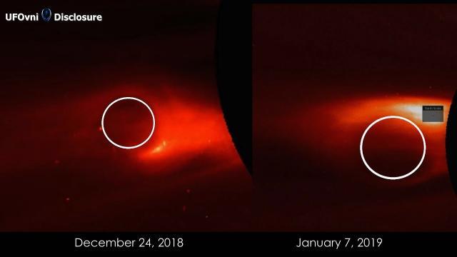 Return Spherical UFO Leaving AGAIN The Sun, Jan 7, 2019