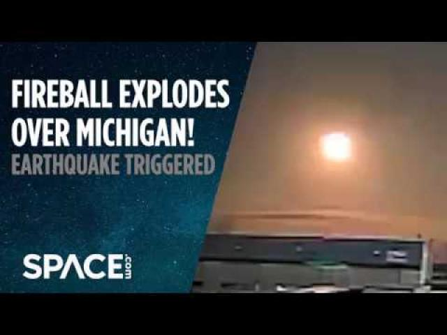 Fireball Over Michigan Triggers 2.0 Earthquake