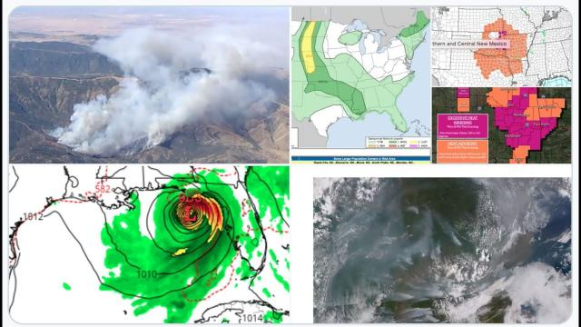 Mexico Earthquake makes Buildings Sway! Severe Weather Swath! Wildfires & WTF GFS MADNESS!