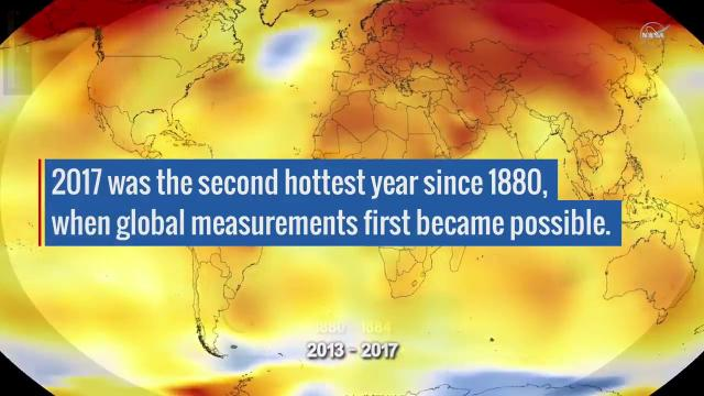 2nd Place for Hottest Year Since 1880 Goes to 2017!
