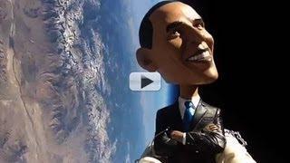 Barack O-Bobblehead Flies To Edge Of Space | Video