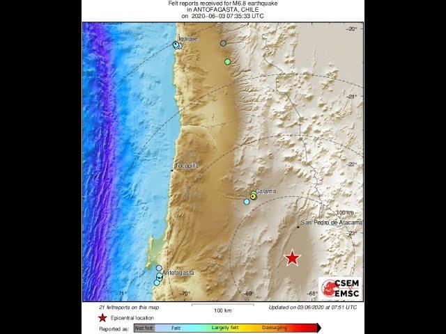 6.8 Earthquake Chile & 3.9 Earthquake Los Angeles