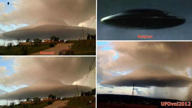 UFO Cloaked In Clouds Moving Low Over New Mexico, Feb 2016