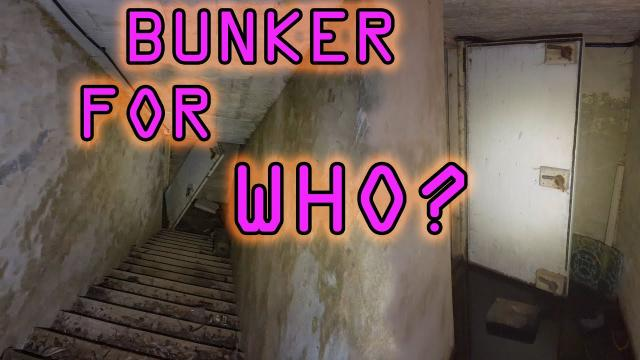Hospital Bunker WHO WAS IT FOR