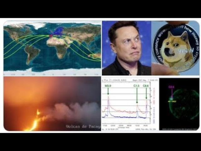 Major Guatemala Volcano eruption! Chinese Rocket tumbling to Earth! 3 Solar flares! Elon SNL Doge!