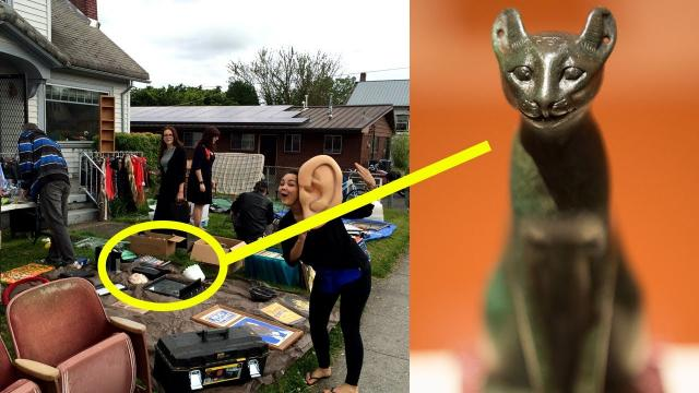 Family Learns Statue From A Garage Sale Is Actually An Ancient Treasure