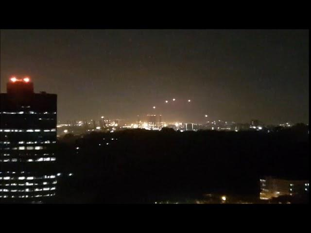 A series of mysterious lights were captured on the city of Singapore