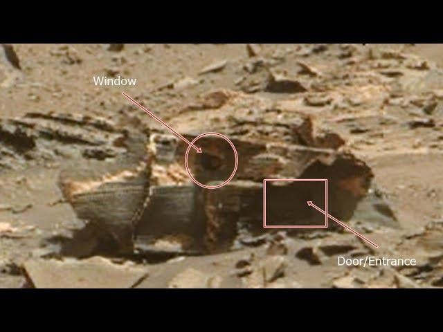 The Rover Curiosity sent an image where you clearly see a Shelter with a Martian inside it